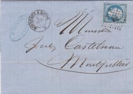 Empire 22 Sur LaC   Ambulant   Bordeaux à Cette B  CaD De 1863 Oblitération BC - Railway Post