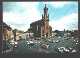 Wetteren - Grote Markt En Sint-Gertrudiskerk - Vintage Car / Auto / Oldtimer - Wetteren