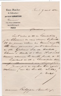 """Lettre Du 9 Aout 1860 à Entête """" Cours Familier De Littérature """" Par Alphonse De Lamartine - Documents Historiques"""