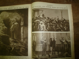 1917 LE MIROIR:Cloches Des Byng-Boys;Camps De Prisonniers Français En Allemagne;Les Canon De Bois D'instruction US;etc - Riviste & Giornali