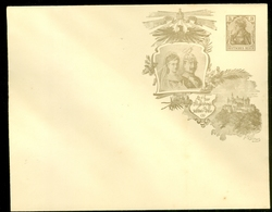 DEUTSCHES REICH CARTOLINA CON SOVRASTAMPA PRIVATA KÖNIGREICH WÜRTTEMBERG 1806-1906 CENTENARFEIER 3 Pf. (11.380) - Postwaardestukken