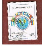 CILE (CHILE)  - SG 1012  -    1985  ANNIV. AMERICAN AIR FORCES COOPERATION  -     USED ° - Cile