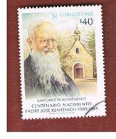 CILE (CHILE)  - SG 1014  -    1985  CENTENARY FATHER J. KENTENICH  -     USED ° - Cile