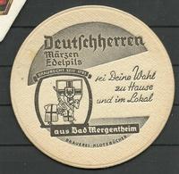 Bierdeckel Deutschland Deutschherren Aus Bad Mergentheim - Sous-bocks