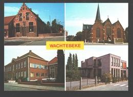 Wachtebeke - Vierschaar - Rustoord De Mey - Kerk Sint-Catharina - Kinderkribbe Kindervreugd - Wachtebeke