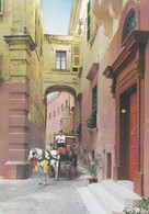 Postcard Typical Narrow Street Mdina Malta [ Horde Carriage ] PU 1982 My Ref  B22998 - Malta