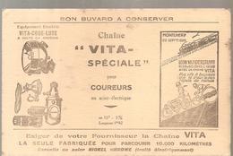 Buvard Chaîne VITA Spéciale Pour Coureurs En Acier électrique MONTLHERY 29 Sept 1928 Léon VANDERSTUYFT - Sport