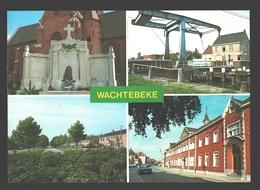 Wachtebeke - Monument Gesneuvelden - Warande - Brug Overlede Moervaart - Lyceum O.L. Vrouw Heilig Hart - Wachtebeke
