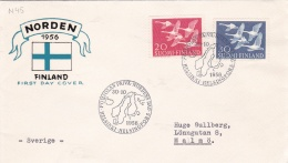 Finland FDC 1956 NORDEN (DD23-13) - Finlande
