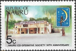 NAURU 1973 50th Anniv Of Nauru Co-operative Society - 5c Co-op Store MH - Nauru