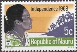 NAURU 1968 Independence - 5c Towards The Sunrise MH - Nauru