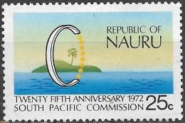 NAURU 1972 25th Anniv Of South Pacific Commission - 25c Island, C And Stars MH - Nauru