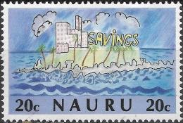 NAURU 1986 Tenth Anniv Of Bank Of Nauru. Children's Paintings - 20c Island And Bank Of Nauru FU - Nauru