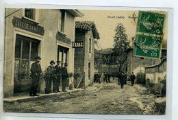 38 PLAN  Carte Rare  Le CAFE De La Mairie TABAC Anim Rue Principale  1913   /DS-2015 - Francia