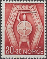 NORWAY 1943 Soldiers' Relief Fund - 20ore+30ore Soldier's Emblem MH - Norvège