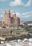 Postcard Parish Church Mellieha PU 1982 My Ref  B22999 - Malta