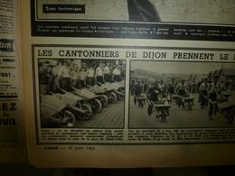 1952 RADAR:Course Cantonniers à Brouette à Dijon;Naufragés Volontaires;Les 2 Singes Boxeurs;Famille Auge à Chisseaux;etc - Zeitungen