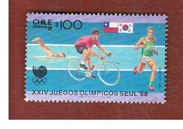 CILE (CHILE)  - SG 1148-    1988 OLYMPIC GAMES: SOME SPORTS  -     USED ° - Cile