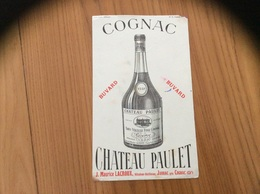 """Buvard """"COGNAC - CHATEAU PAULET"""" - Liqueur & Bière"""