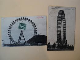 PAIRE DE CPA PARIS. LA GRANDE ROUE. 1908 / 1916 - France