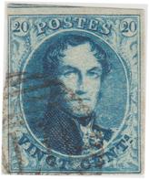 """COB N° 4 """"Médaillon"""" Filigrane """"LL"""" Encadré - Bien Margé. - 1849-1850 Médaillons (3/5)"""