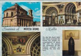 Postcard Mosta Dome Malta PU 1982 My Ref  B23000 - Malta