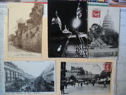 LOT DE 5 CPA PARIS. MONTMARTE. 1904 / ANNEES 60. QUELQUES ANIMATIONS BOULEVARD MONTMARTRE. ON DISTINGUE UNE ENSEIGNE JA - France