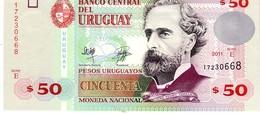 Uruguay P.87b 50 Pesos 2011 Unc - Uruguay