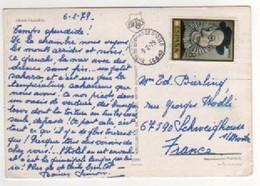 """Beau Timbre , Stamp Sur Cp , Carte , Postcard  Du 06/02/1979 , Cachet """" Bureau De Change D'Oslo """" ?? Pour La Réunion - 1931-Aujourd'hui: II. République - ....Juan Carlos I"""