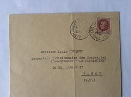 Pétain Oblit Conflans-Jarny Entrepôt 1943 - 1941-42 Pétain