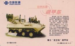 TARJETA TELEFONICA DE CHINA. TANQUE - WAR TANK (088) - Armada