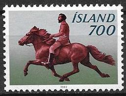 Islande 1982 N° 539 Neuf Cheval Islandais - 1944-... Republique