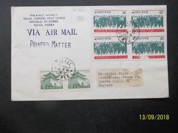 South Korea: 1962 Air Cover To England (#EH7) - Korea (Zuid)