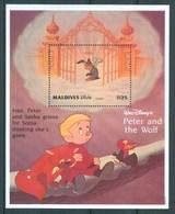 1995 Mldive Disney Peter And The Wolf Set 2 Block MNH** Fo138 - Disney