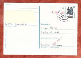 P 157 Goethe-Schiller-Denkmal Weimar, Karlsruhe Nach Muenchen, Nachtraeglich Entwertet 2001 (57263) - BRD