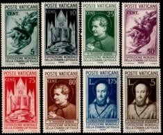 ~~~ Vatican City 1936 - Catholic Press - Mi. 51/58 MH * / MNH **  ~~~ - Vaticaanstad