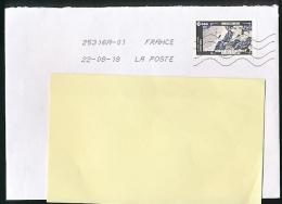 """Enveloppe, Timbre 2018, Lettre Verte """"La Terre, Route Glacée Au Canada"""" Oblitération La Poste 25316A-01 (22-08-18) - 1961-...."""