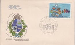NAVIDAD. FDC, AÑO 1983. CORREOS DEL URUGUAY- BLEUP - Uruguay
