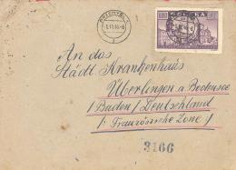 Polen   1945  Michel #  419  Auf Brief   EF  Geschnitten - Covers & Documents