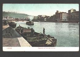 Liège - Passerelle Et Pont Des Archives - Dos Simple - Animée - Bateau - Luik