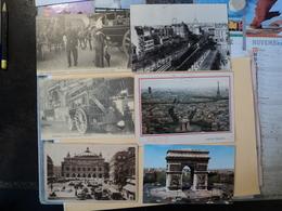 LOT DE 5 CPA PARIS. REPUBLIQUE / ST MICHEL. 1909 / 1936. ANIMEES 2 PLACE DE LA REPUBLIQUE / PLACE ET FONTAINE SAINT MIC - France