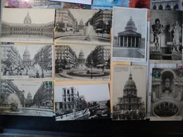 LOT DE 20 CPA PARIS. INVALIDES / NOTRE DAME / PANTHEON. 1906 / 1953 QUELQUES PETITES ANIMATIONS. HOTEL DES INVALIDES - France