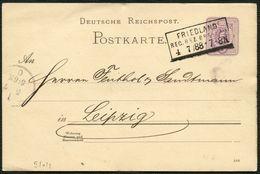 DT.REICH GANZSACHE P10 MIT R3-REICHSABLÖSER FRIEDLAND/BRESLAU Aus 1888 - Allemagne