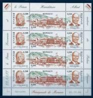 """Monaco Feuille YT 2467 2468 2469 Triptyque """" Palais Princier """" 2004 Neuf** Coin Daté Du 04.11.04 - Neufs"""