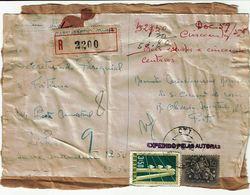 Portugal , 1956 , Registration Label And Postmark CARVALHIDO PORTO , Telegraph 3$50 + Medieval Knigth $10 Stamps - Postmark Collection
