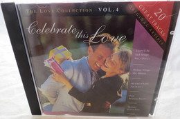 """CD """"Celebrate This Love"""" The Love Collection Vol. 4, 20 Great Tracks, Original Artists - Compilations"""