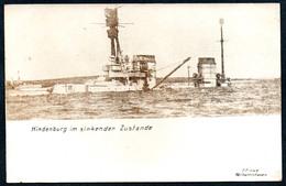 B6781 - Kriegsschiff - Hindenburg Im Sinkenden Zustand - F. Finke Wilhelmshaven 1. WK WW - Guerra