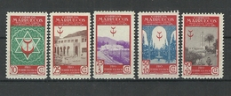 ESPAÑA COLONIAS MARRUECOS PRO TUBERCULOSIS AÑO 1946 YT 350/354 ** MNH - Marocco Spagnolo