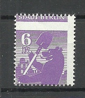 Deutschland 1945 Soviet Zone Berlin Michel 2 MNH Error Abart Stark Verzähnt - Sowjetische Zone (SBZ)