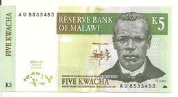 MALAWI 5 KWACHA 1997 UNC P 36 A - Malawi